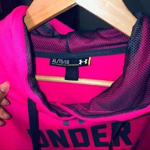 Under Armor Neon Hot Pink Sweatshirt